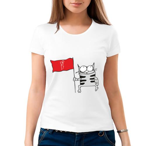 Женская футболка хлопок  Фото 03, Коте
