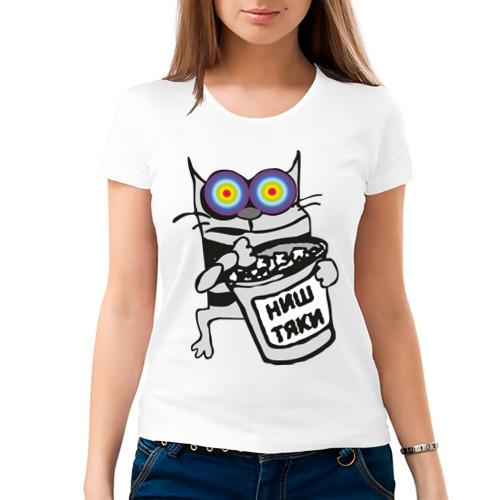 Женская футболка хлопок  Фото 03, Коте (2)