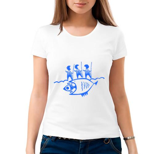 Женская футболка хлопок  Фото 03, Рыбалка (2)