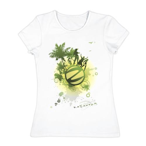 Женская футболка хлопок Казантип (2)