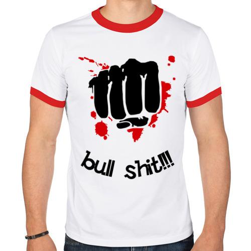 Мужская футболка рингер  Фото 01, Bull shit