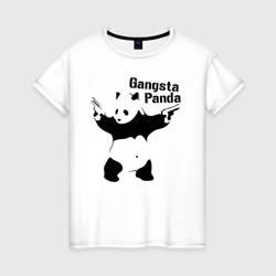 Женская футболка хлопокGangsta Panda
