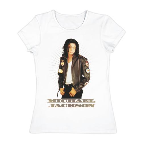 Женская футболка хлопок Michael Jackson (4)