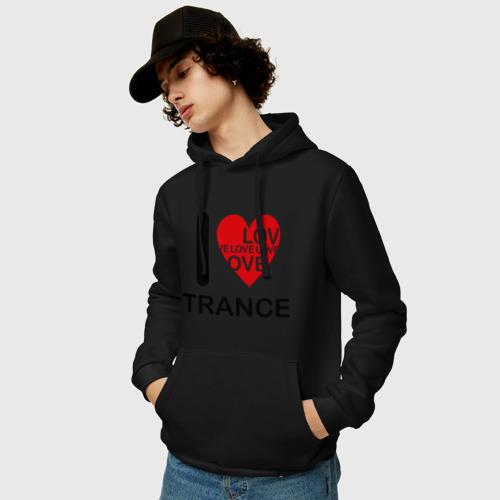 Мужская толстовка хлопок  Фото 03, I Love Trance