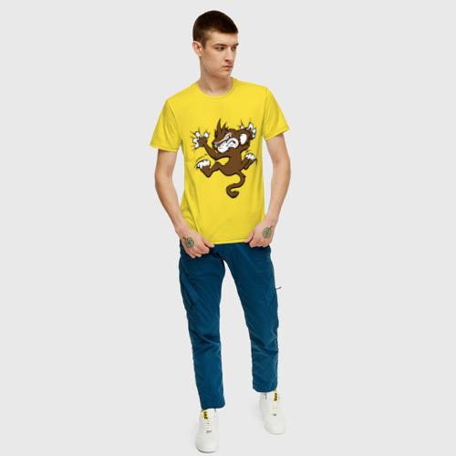 Мужская футболка хлопок Мартышка Фото 01