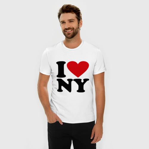 Мужская футболка премиум  Фото 03, I love NY