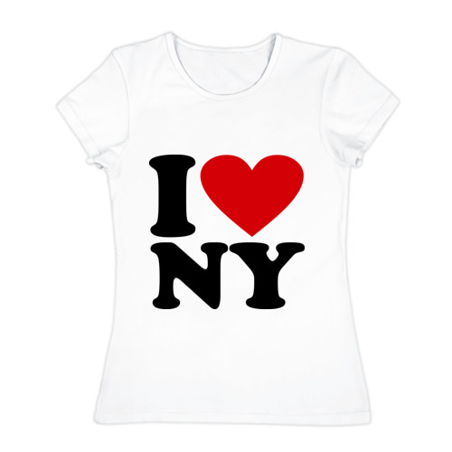Женская футболка хлопок I love NY