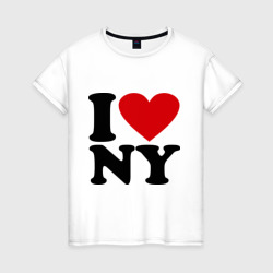 Женская футболка хлопокI love NY
