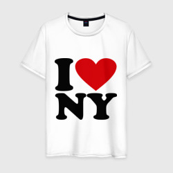 Мужская футболка хлопокI love NY