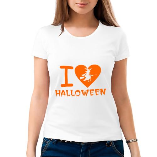 Женская футболка хлопок  Фото 03, I Love Halloween