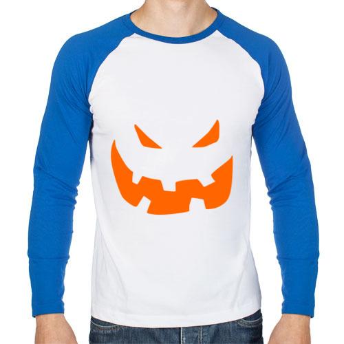 Мужской лонгслив реглан Halloween smile