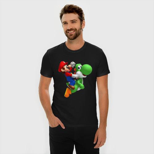 Мужская футболка премиум Mario Фото 01