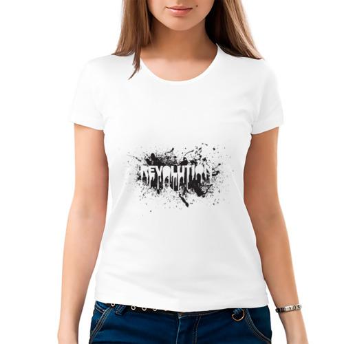 Женская футболка хлопок  Фото 03, Revolution
