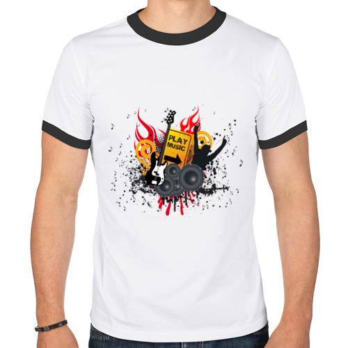 Мужская футболка рингер  Фото 01, PlayMusic