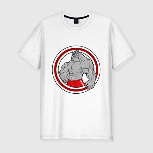 Мужская футболка премиум  Фото 01, bulldog