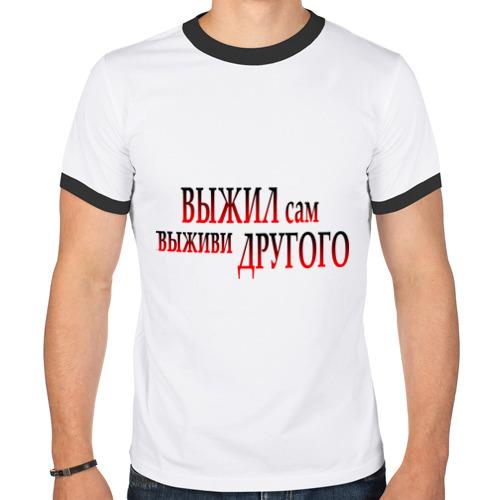 Мужская футболка рингер  Фото 01, Выживание
