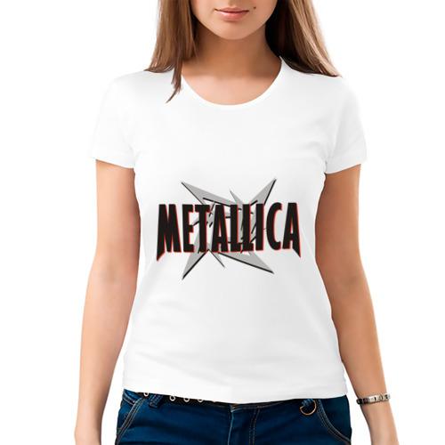 Женская футболка хлопок  Фото 03, Металлика