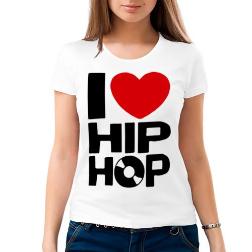 Женская футболка хлопок  Фото 03, I love Hip Hop