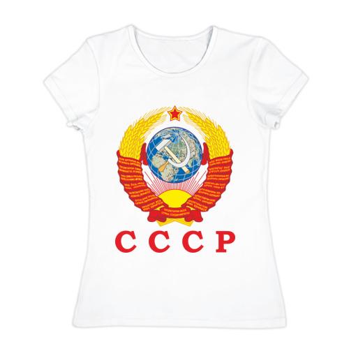Женская футболка хлопок USSR