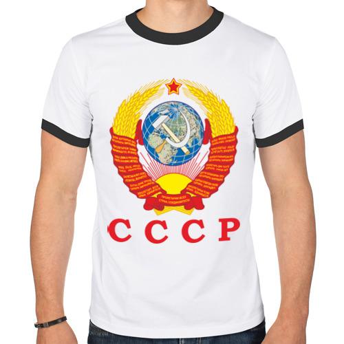 "Мужская футболка-рингер ""USSR"" - 1"