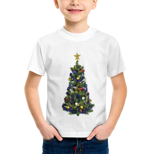 Детская футболка синтетическая Ёлка