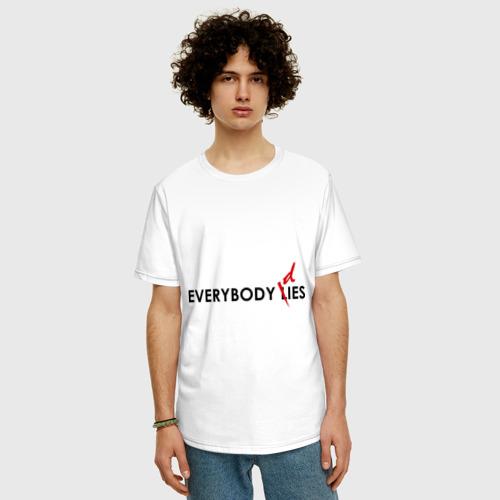 Мужская футболка хлопок Oversize Everybody Dies (2) Фото 01