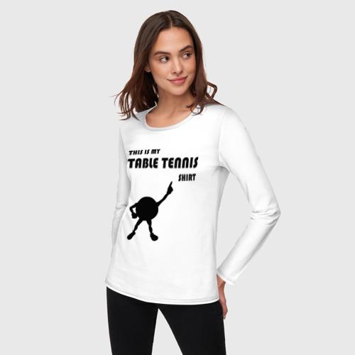 Женский лонгслив хлопок  Фото 03, My table tennis shirt