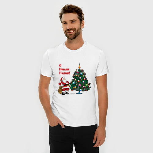 Мужская футболка премиум  Фото 03, Ded Moroz