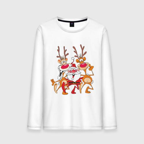 """Мужская футболка с длинным рукавом """"Дед Мороз"""" (8) - 1"""