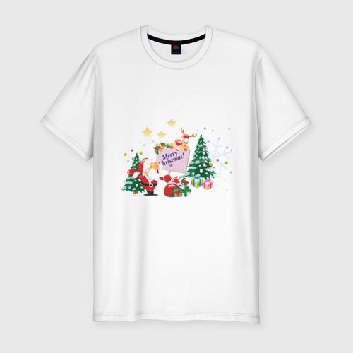 Мужская футболка премиум  Фото 01, Merry Christmas