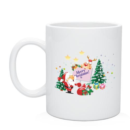 Кружка Merry Christmas фото