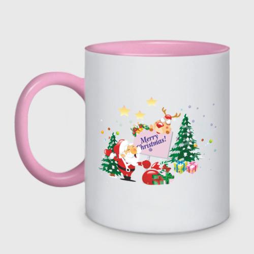Кружка двухцветная  Фото 01, Merry Christmas