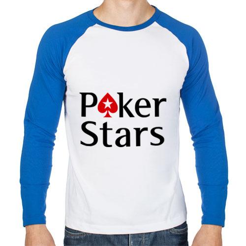 Мужской лонгслив реглан Poker Stars