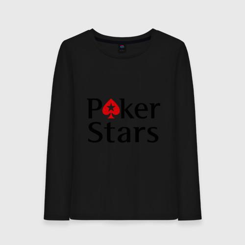 Женский лонгслив хлопок Poker Stars