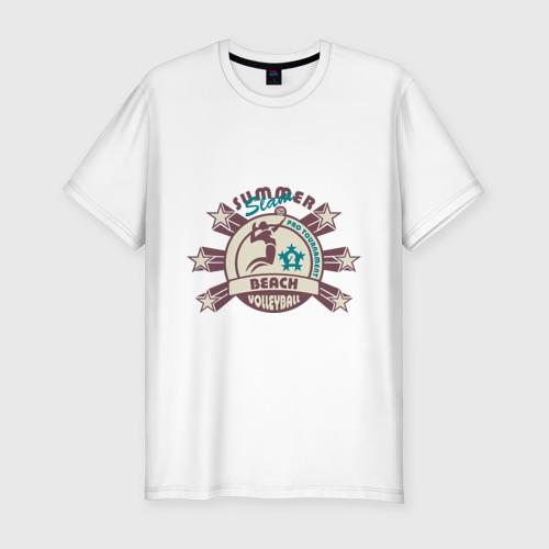 Мужская футболка премиум  Фото 01, Пляжный волейбол