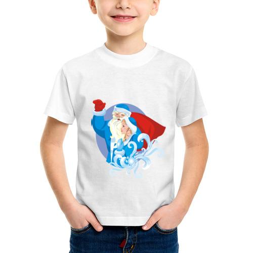 Детская футболка синтетическая Мороз и снегурочка (2) от Всемайки
