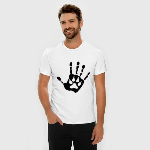 Мужская футболка премиум  Фото 03, Рука-сумерки