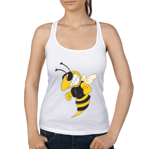 Женская майка борцовка Пчела