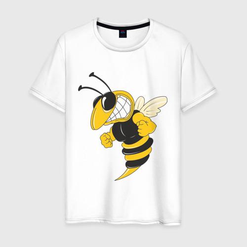 Мужская футболка хлопок Пчела