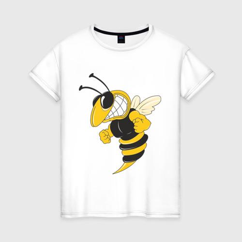 Женская футболка хлопок Пчела