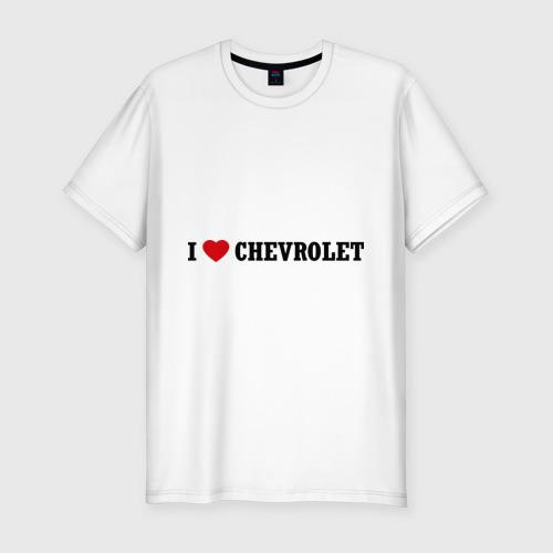 Мужская футболка премиум  Фото 01, I love Chevrolet