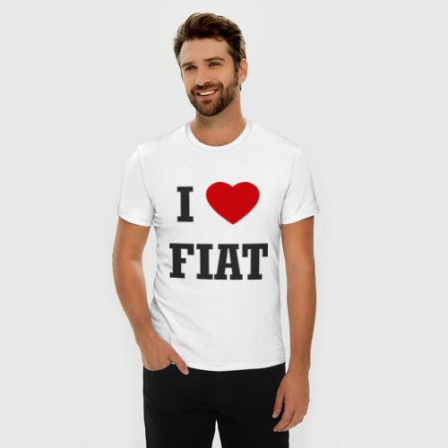 Мужская футболка премиум  Фото 03, I love Fiat