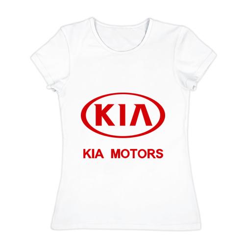 Женская футболка хлопок KIA