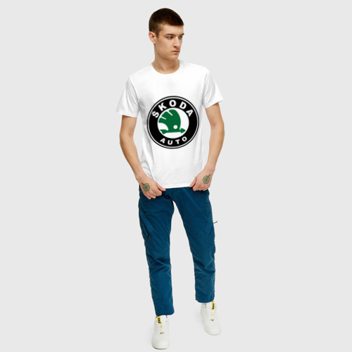 Мужская футболка хлопок Skoda Фото 01