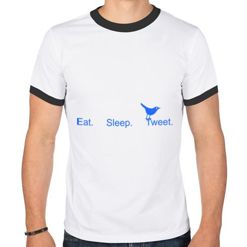 Мужская футболка рингер  Фото 01, Твиттер
