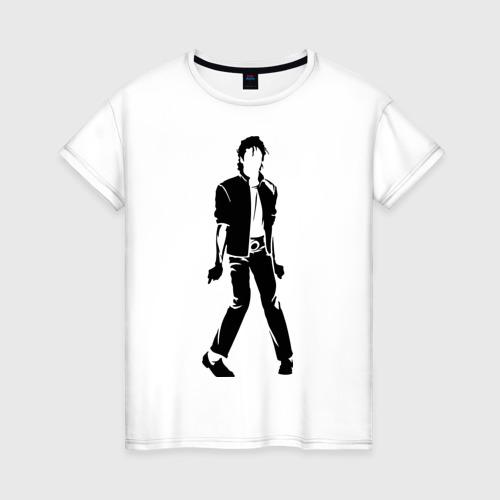 Женская футболка хлопок Майкл Джексон (9)