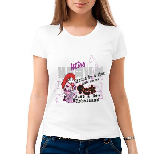 Женская футболка хлопок  Фото 03, Miss rock