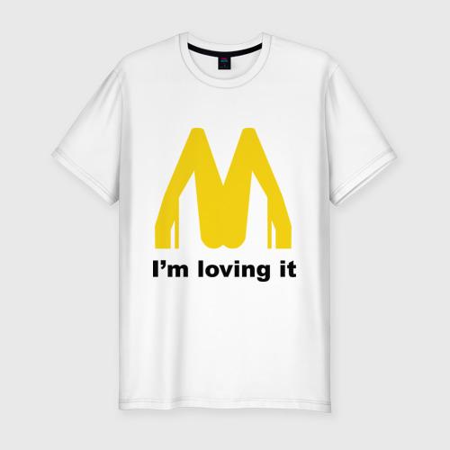 Мужская футболка премиум  Фото 01, I\'m Lovin\' It