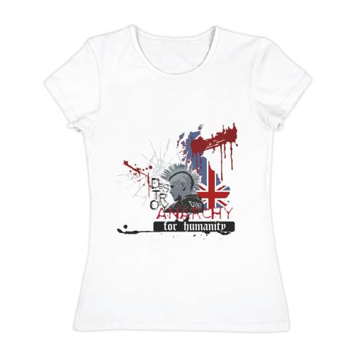 Женская футболка хлопок Анархия(2)