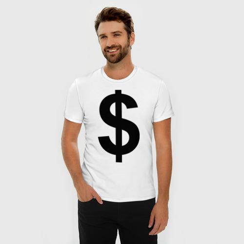 Мужская футболка премиум  Фото 03, знак доллара $